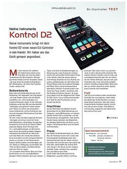 KEYS Native Instruments Kontrol D2