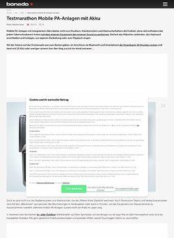 Bonedo.de Testmarathon Portable-PA-Systeme mit Akku