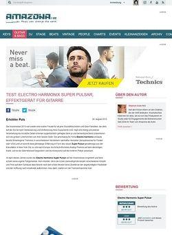 Amazona.de Test: Electro Harmonix Super Pulsar, Effektgerät für Gitarre