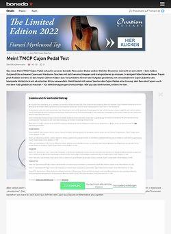 Bonedo.de Meinl TMCP Cajon Pedal