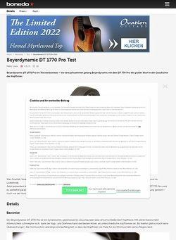 Bonedo.de Beyerdynamic DT 1770 Pro