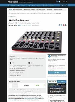 MusicRadar.com Akai MIDImix