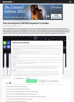 Bonedo.de Test-Marathon USB / MIDI Keyboard Controller