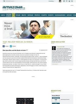 Amazona.de Test: Reloop RMX-22i, DJ-Mixer