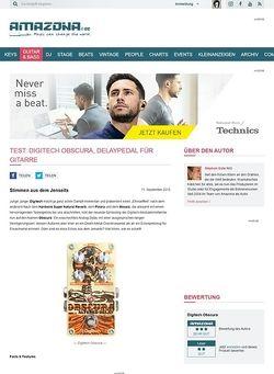 Amazona.de Test: Digitech Obscura, Delaypedal für Gitarre