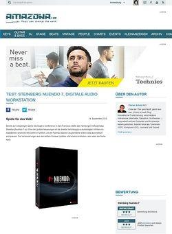 Amazona.de Test: Steinberg Nuendo 7, Digitale Audio Workstation
