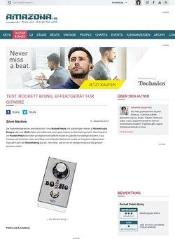 Amazona.de Test: Rockett Boing, Effektgerät für Gitarre