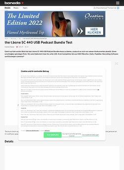 Bonedo.de the t.bone SC 440 USB Podcast Bundle