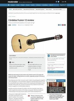 MusicRadar.com Cordoba Fusion 12