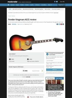 MusicRadar.com Fender Kingman ASCE