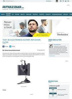 Amazona.de Test: sE Electronics guitaRF, Reflexion Filter