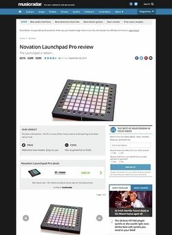 MusicRadar.com Novation Launchpad Pro