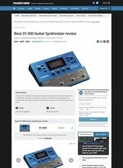 MusicRadar.com Boss SY-300