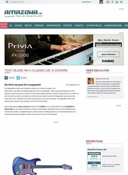 Amazona.de Test: Blade RH-4 Classic OB, E-Gitarre