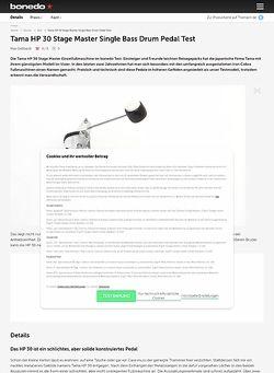 Bonedo.de Tama HP 30 Stage Master Single Bass Drum Pedal