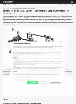 Bonedo.de Yamaha FP-9500 Single und DFP-9500 Double Bass Drum Pedale