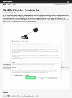 Bonedo.de DW 6000AX Single Bass Drum Pedal