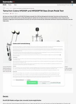 Bonedo.de Tama Iron Cobra HP200P und HP200PTW Bass Drum Pedal