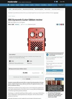 MusicRadar.com EBS Dynaverb Guitar Edition