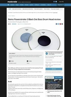 MusicRadar.com Remo Powerstroke-3 Black Dot Bass Drum Head