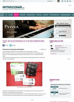 Amazona.de Test: sE electronics X1 X1D sE5 Mikrofone