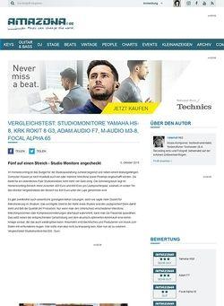 Amazona.de Vergleichstest: Studiomonitore Yamaha HS-8, KRK Rokit 8 G3, Adam Audio F7, M-Audio M3-8, Focal Alpha 65