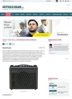 Amazona.de Test: VOX VX II, Gitarrenverstärker