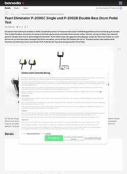 Bonedo.de Pearl Eliminator P-2000C Single und P-2002B Double Bass Drum Pedal