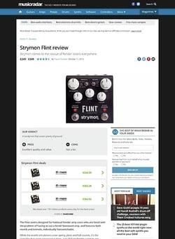 MusicRadar.com Strymon Flint