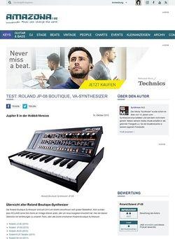 Amazona.de Test: Roland JP-08 Boutique, VA-Synthesizer