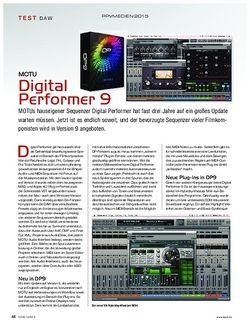 KEYS MOTU Digital Performer 9