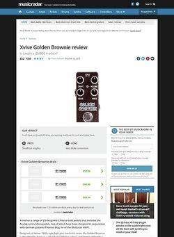 MusicRadar.com Xvive Golden Brownie