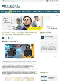 Amazona.de Test: UDG Ultimate SlingBag Trolley DeLuxe vs. Magma LP-Trolley 65 Pro, DJ-Bags