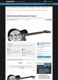 MusicRadar.com Fender Roosevelt Resonator CE