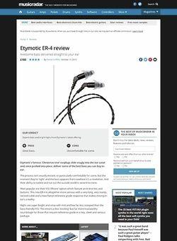 MusicRadar.com Etymotic ER-4
