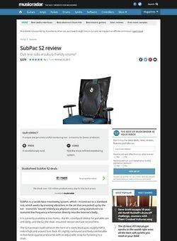 MusicRadar.com SubPac S2