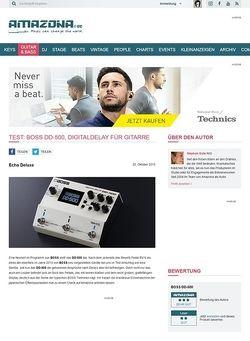 Amazona.de Test: BOSS DD-500, Effektgerät für Gitarre
