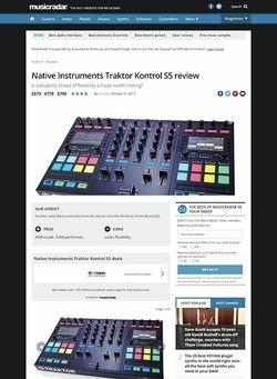 MusicRadar.com Native Instruments Traktor Kontrol S5
