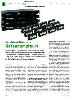 KEYS Test: MIDI Solutions MIDI-Prozessoren