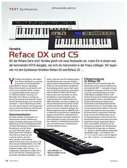 KEYS Yamaha Reface DX und CS