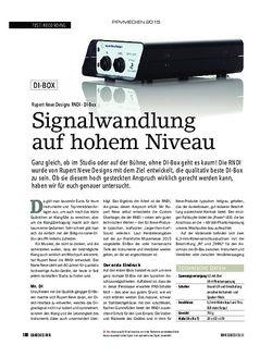 SOUNDCHECK Rupert Neve Designs RNDI - DI-Box