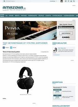 Amazona.de Test: Beyerdynamic DT 1770 Pro, Kopfhörer