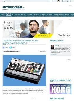 Amazona.de TOP NEWS: Korg Volca Sample OK Go, microKEY-Air, microKey 2