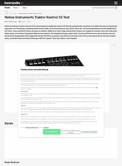 Bonedo.de Native Instruments Traktor Kontrol S5
