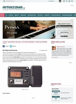 Amazona.de Test: Mooer GE100, Effektgerät für Gitarre