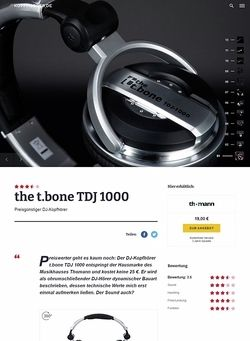 Kopfhoerer.de the t.bone TDJ 1000