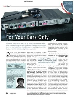 Soundcheck Test: Fischer Amps Guitar Genius & In Ear Amp – For Your Ears Only