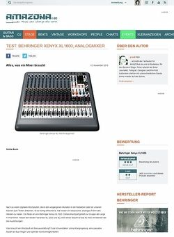 Amazona.de Test: Behringer Xenyx XL1600, Analogmixer