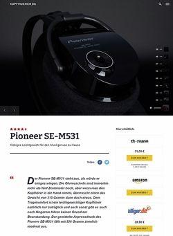 Kopfhoerer.de Pioneer SE-M531