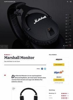 Kopfhoerer.de Marshall Monitor Black